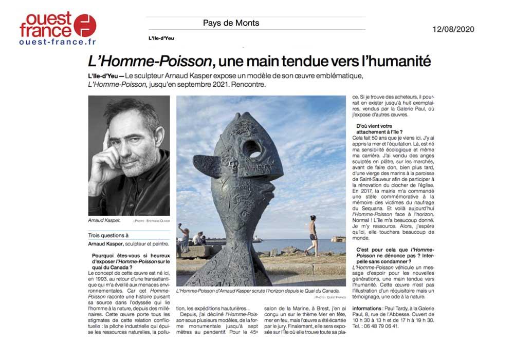 Ouest-France-12-08-2020 Arnaud Kasper