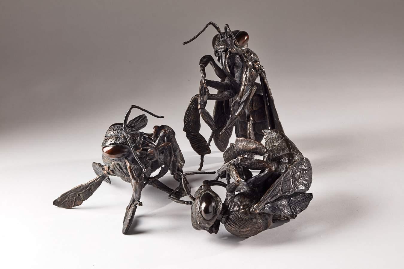 Kasper sculpteur _Abeilles_ bronze