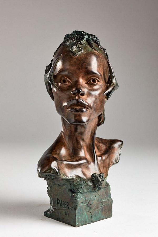 Kasper sculpteur _Esprit de la foret_ bronze
