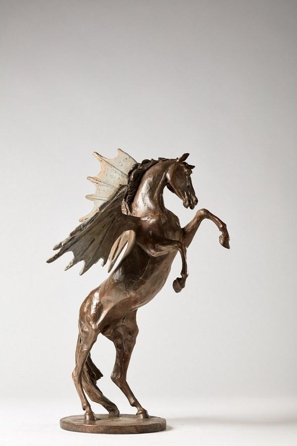 Kasper-sculpteur-_Hommage-à-Léonard-de-Vinci_-bronze