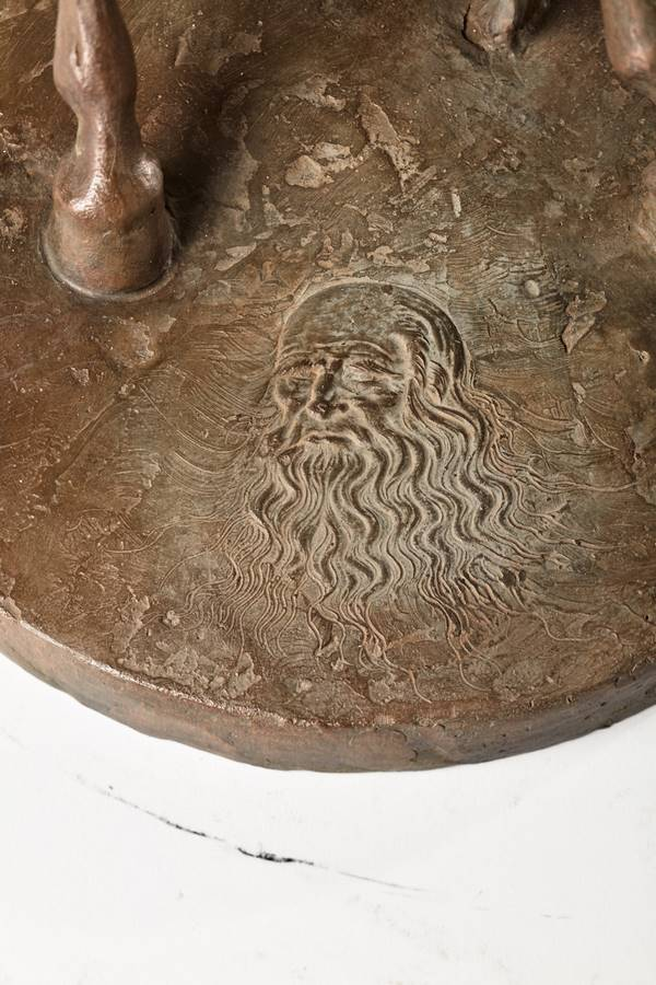 Kasper sculpteur _Hommage à Léonard de Vinci_ bronze