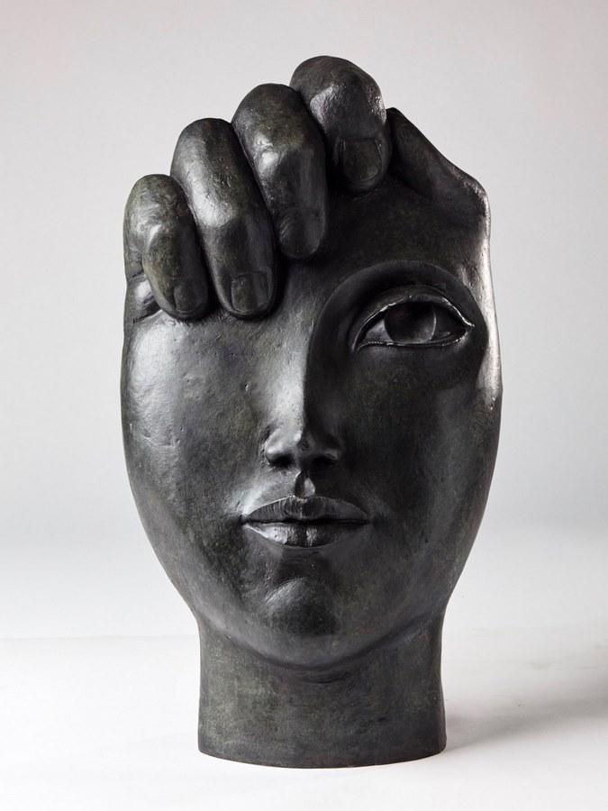 Kasper sculpteur _La main visage_ bronze