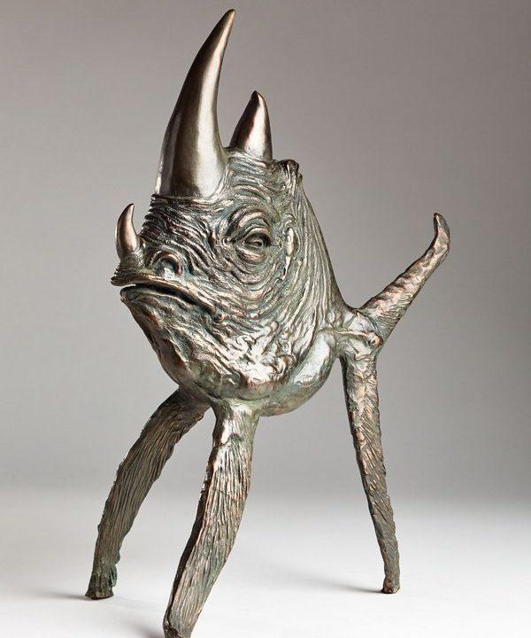Kasper sculpteur _Rhinofish_ bronze