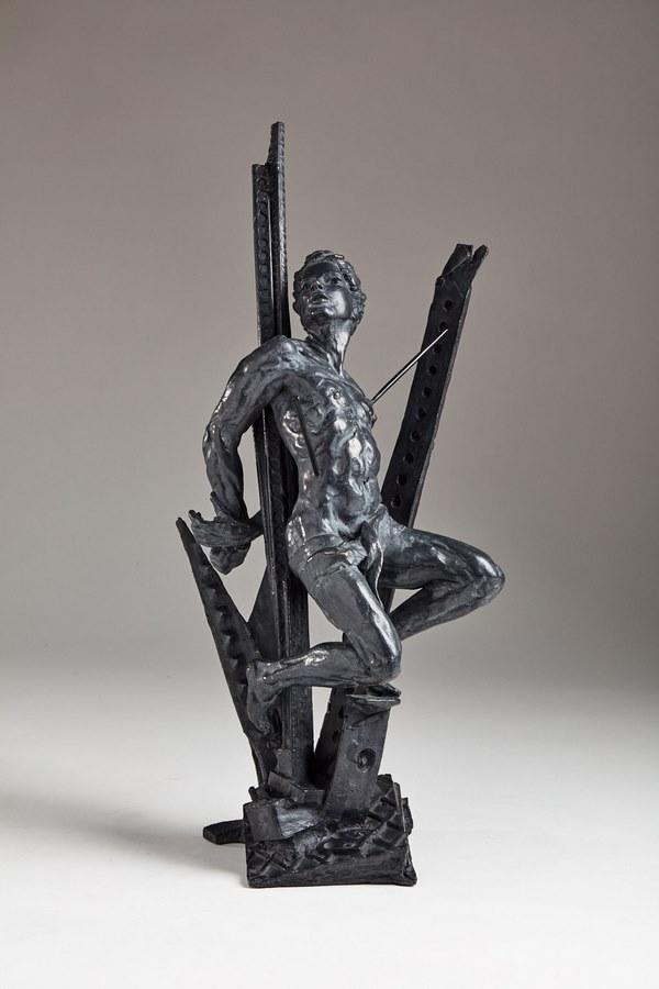 Kasper sculpteur _Saint Sébastien_ bronze